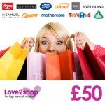 win £50 Love2Shop vouchers for Valentines Day