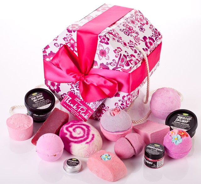 Think Pink gift box with ribbon