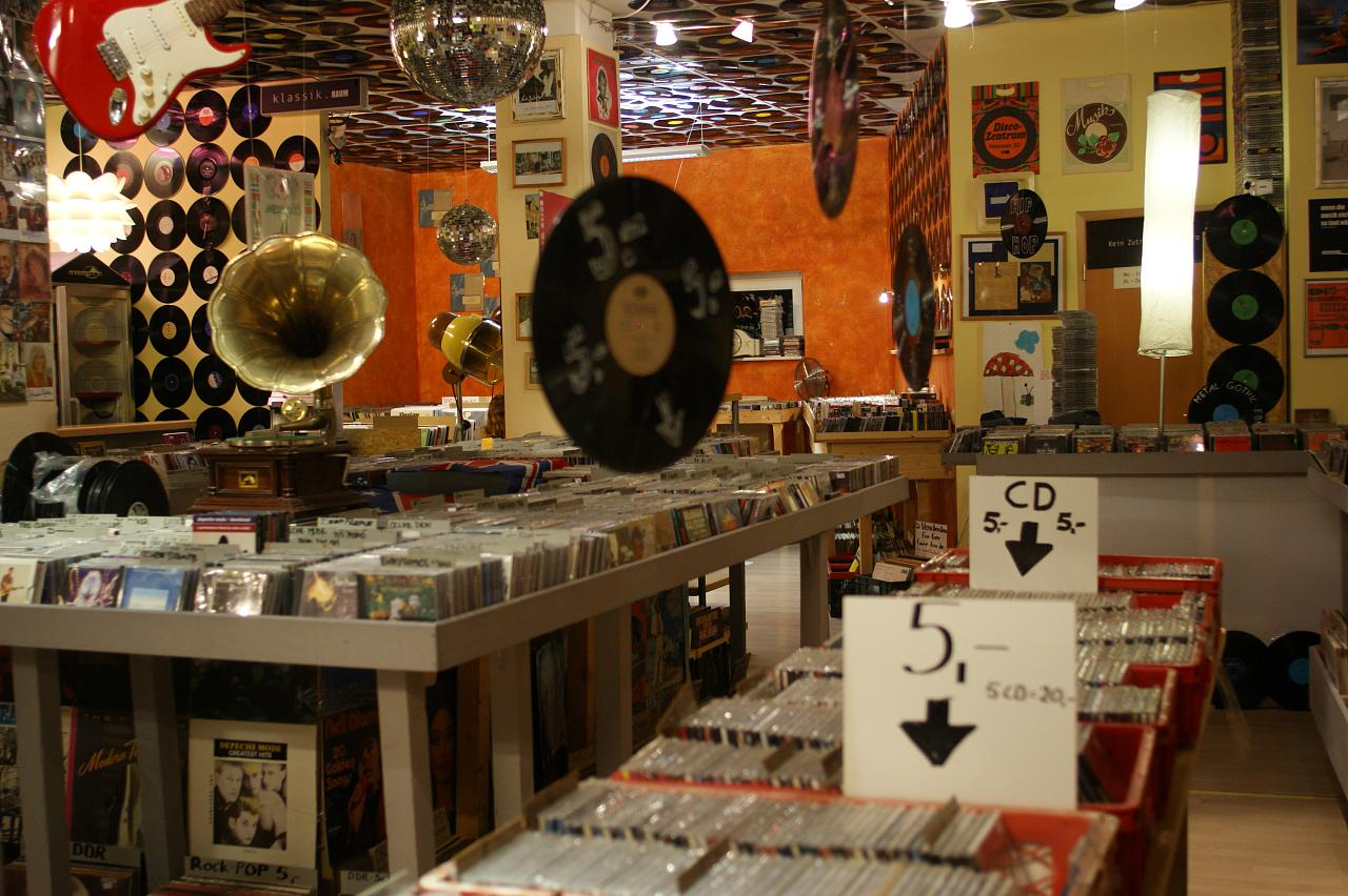 A record store with a grammophone