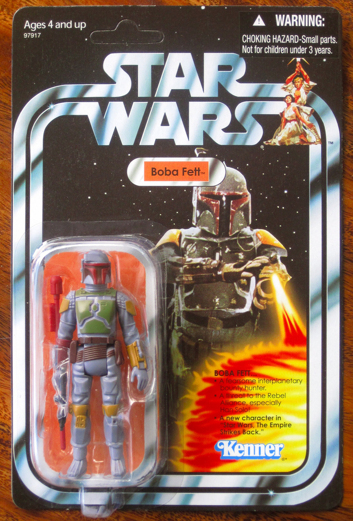 An original mint-condition Boba Fett action figure