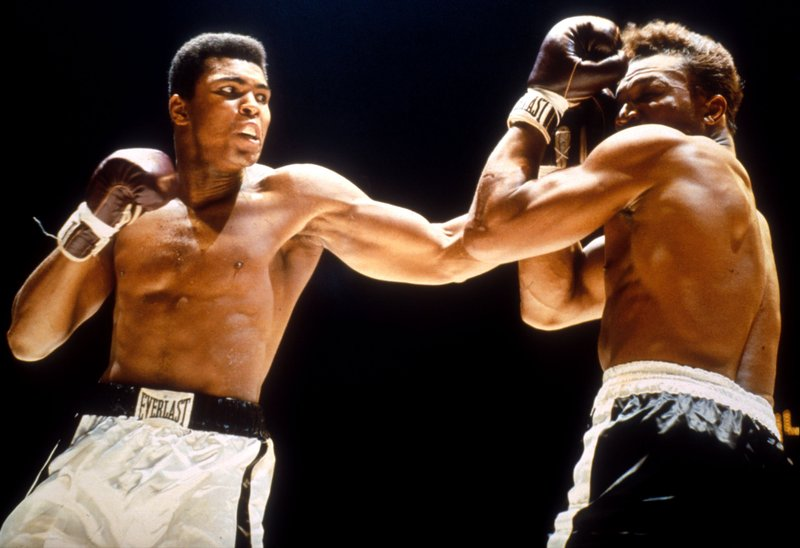 Muhammad Ali during a fight