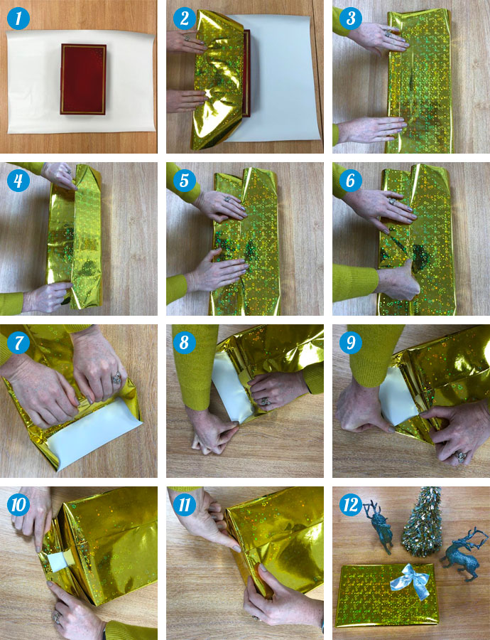 Step-by-step guide to wrapping a present