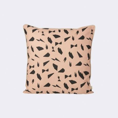 Stylish handprinted cushion from Ferm Living available at Trouva