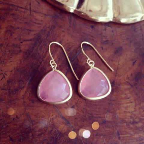 Rose Aventurine Jewel Earrings available at Trouva