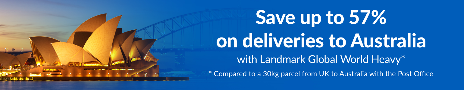 Save up to 57% on deliveries to Australia