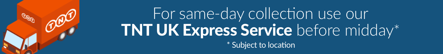 For same-day collection use our TNT UK Express Service before midday. *Subject to location