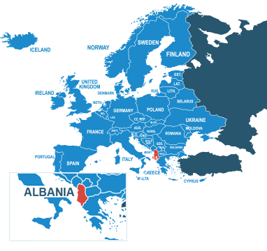 Parcel delivery to Albania