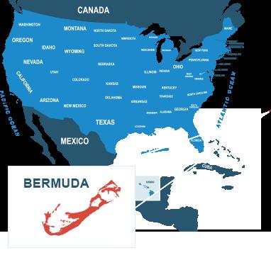 Parcel delivery to Bermuda
