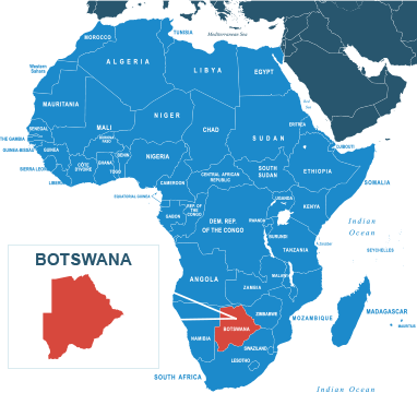 Parcel delivery to Botswana