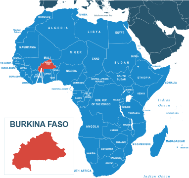 Parcel delivery to Burkina Faso