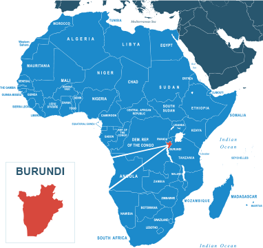Parcel delivery to Burundi