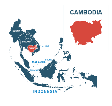Parcel delivery to Cambodia