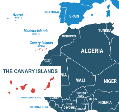Parcel delivery to Canary Islands
