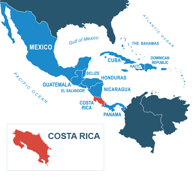 Parcel delivery to Costa Rica