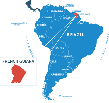 Parcel delivery to French Guiana