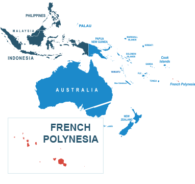 Parcel delivery to French Polynesia