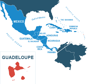Parcel delivery to Guadeloupe