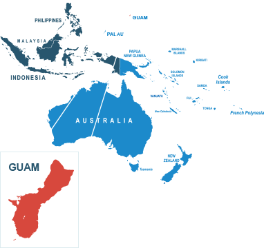 Parcel delivery to Guam