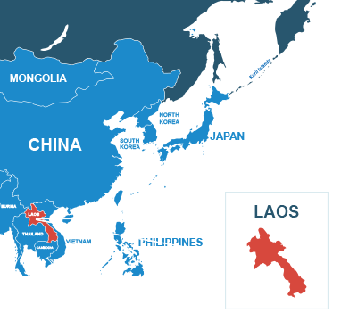 Parcel delivery to Laos