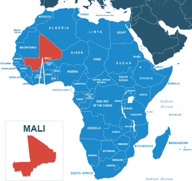 Parcel delivery to Mali