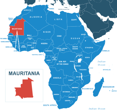 Parcel delivery to Mauritania