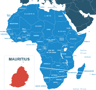 Parcel delivery to Mauritius