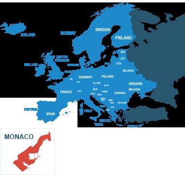 Parcel delivery to Monaco