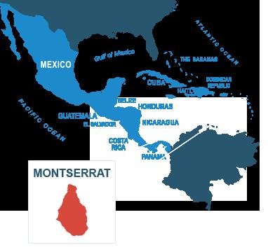 Parcel delivery to Montserrat