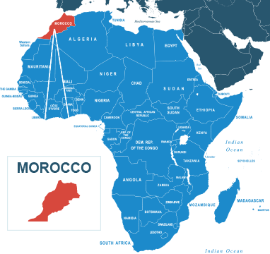 Parcel delivery to Morocco