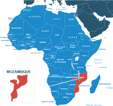 Parcel delivery to Mozambique
