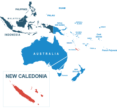 Parcel delivery to New Caledonia