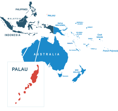 Parcel delivery to Palau