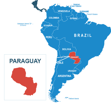 Parcel delivery to Paraguay