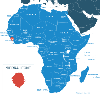 Parcel delivery to Sierra Leone
