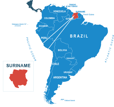 Parcel delivery to Suriname
