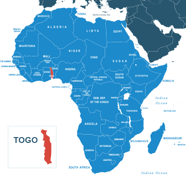 Parcel delivery to Togo