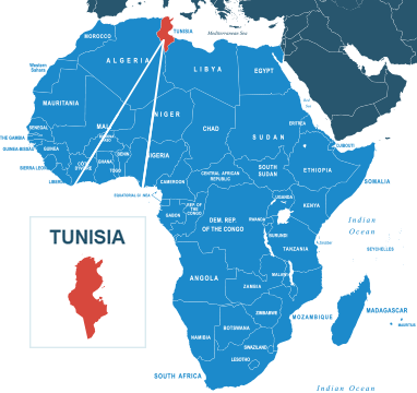 Parcel delivery to Tunisia