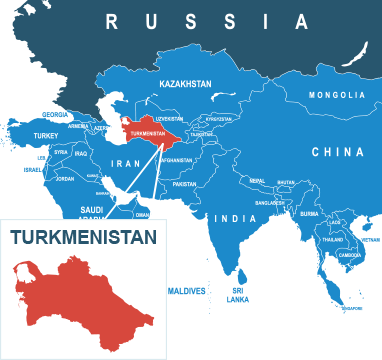 Parcel delivery to Turkmenistan