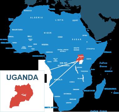 Parcel delivery to Uganda