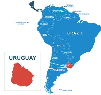 Parcel delivery to Uruguay