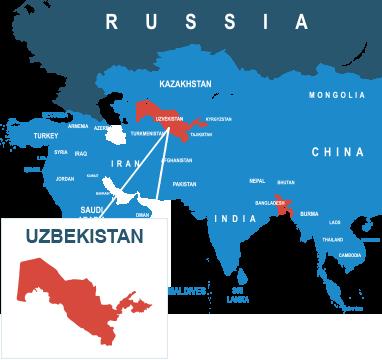 Parcel delivery to Uzbekistan