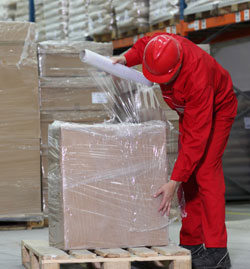 shrink wrapping a pallet