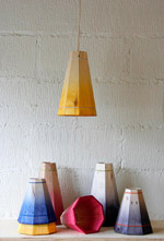 Coloured Pallet Pendant Shades from Factory Twenty One