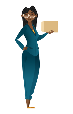 Woman holding a parcel