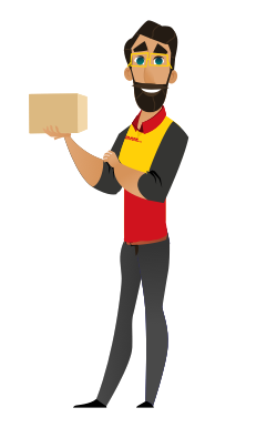 Man holding a small parcel