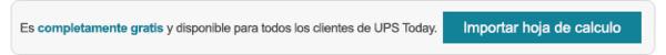 Carga un archivo CSV para agilizar el proceso de contratación con UPS®